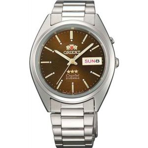 Мужские часы Orient 3 stars brown steel