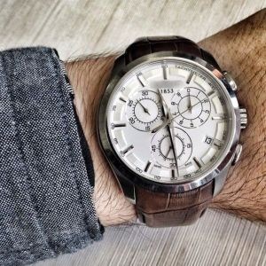 Мужские часы Tis Couturier Chronograph Brown